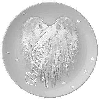 ANGEL WINGS 'Believe' Magic Heart Plate