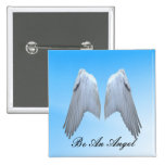 Angel Wings Button