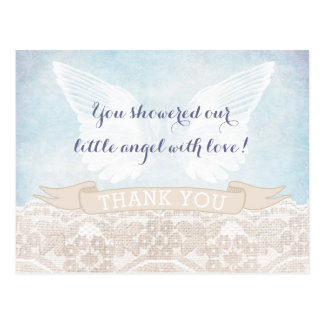 Angel Wings Confirmation Thank You Card for Boy