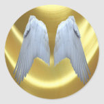 Angel Wings Gold Sticker