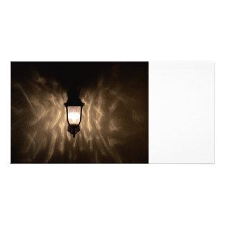 angel wings light custom photo card