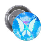 Angel Wings & Peace 2 Inch Round Button