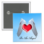 Angel Wings Pinback Buttons