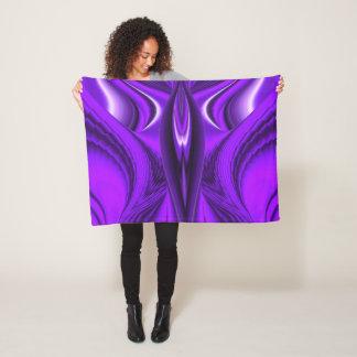Angel Wings , Purple Rainbow Dreams Fleece Blanket
