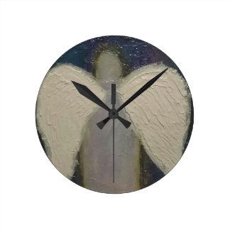 Angel Wings Round Clock