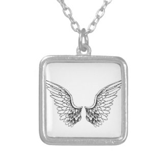 Angel Wings Silver Plated Necklace
