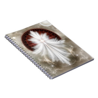 Angel Wings Snowflake Notebook