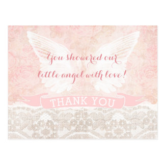 Angel Wings Thank You Card Baptism Baby Shower