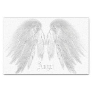 ANGEL WINGS White Custom Name Tissue Paper