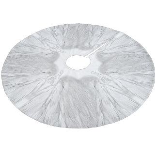 ANGEL WINGS White Heavenly Holly Monogram Fleece Tree Skirt