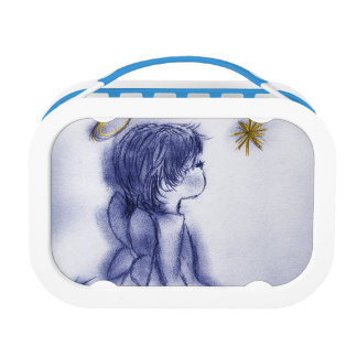 Angel Wishing On A Star - Blue Tint Lunch Box