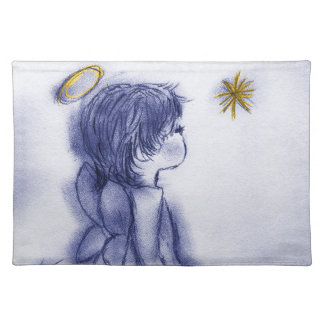 Angel Wishing On A Star - Blue Tint Placemat