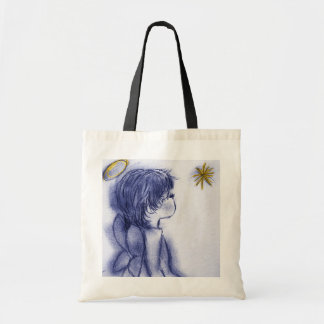 Angel Wishing On A Star - Blue Tint Tote Bag