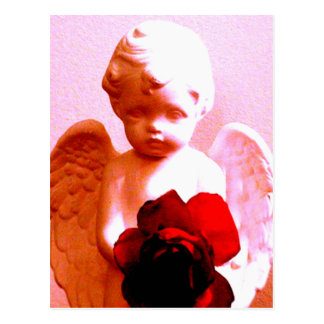 Angel With A Rose Postcard