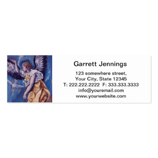 angel with a white dove Double-Sided mini business cards (Pack of 20)