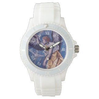 angel with a white dove watch
