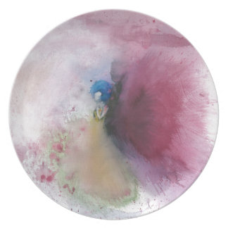 Angel with Blue Hair Party Plate