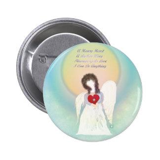 Angel With Broken Wing 2 Inch Round Button