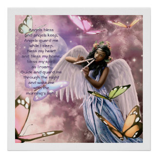 Angel with Butterflies Painting Custom Art Prints