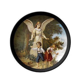 Angel with Children on a Cliff Plate
