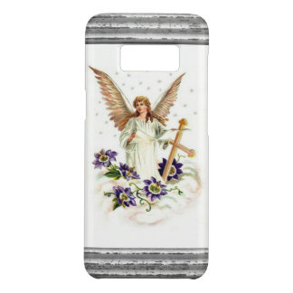 Angel With Cross And Clematis Flowers Case-Mate Samsung Galaxy S8 Case