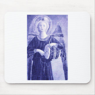 Angel with Drum Mouse Pad