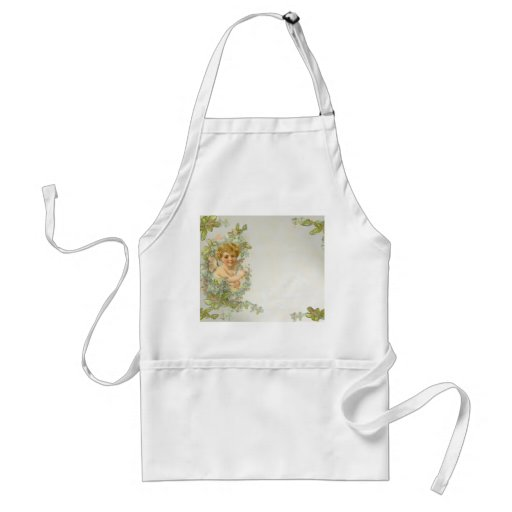 Angel with Flowers Aprons