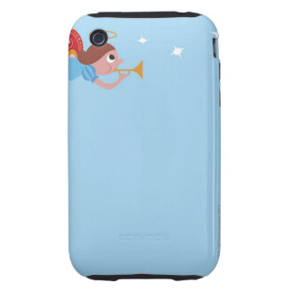 Angel with halo and butterfly wings flying and iPhone 3 tough case