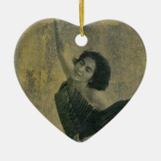 Angel with Harp Ceramic Ornament