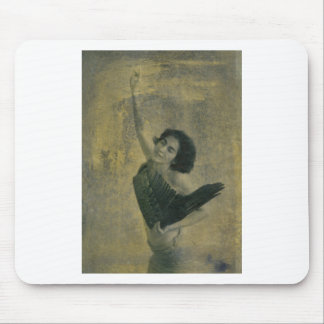 Angel with Harp Mouse Pad