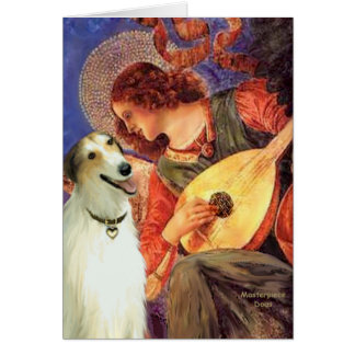 Angel with Mandolin - Borzoi Card