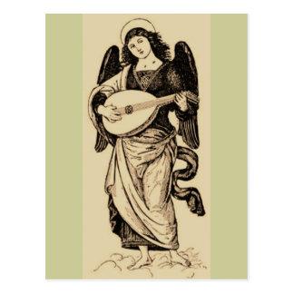 Angel With Mandolin Postcard