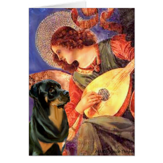 Angel With Mandolin - Rottweiler (#3) Card