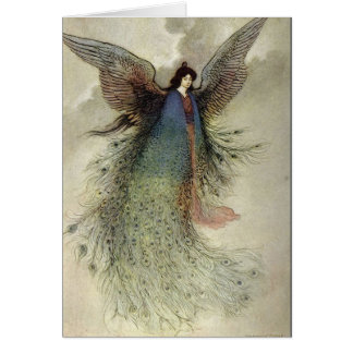 Angel with Peacock Feathers, Card