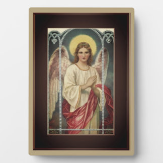 Angel With Pink Ribbon Plaque