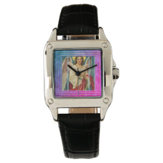 Angel With Pink Ribbon Watch