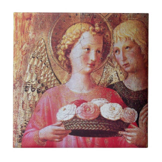 ANGEL WITH ROSES TILES