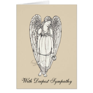 Angel With Sympathy Card