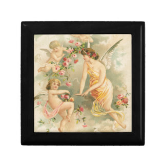 Angel with Three Cherubs Gift Boxes