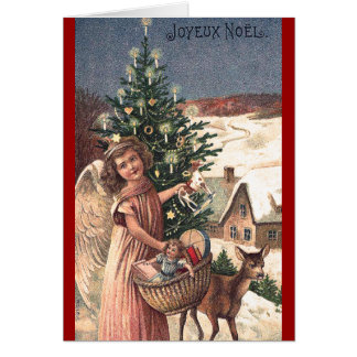 Angel with Toys Christmas Card