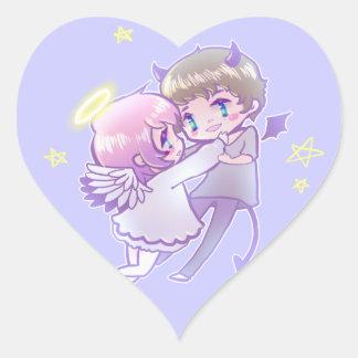 Angel x Demon Luv Sticker