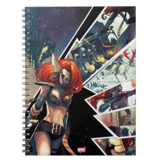 Angela Comic Montage Spiral Notebook