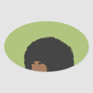 Angela Davis Feminist Oval Sticker