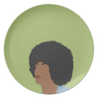 Angela Davis Feminist Plate