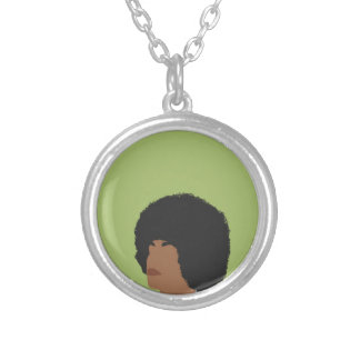 Angela Davis Feminist Silver Plated Necklace