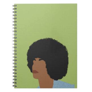 Angela Davis Feminist Spiral Notebook