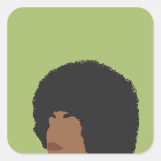 Angela Davis Feminist Square Sticker