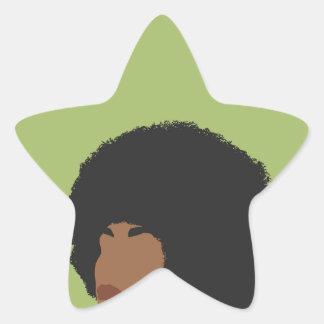 Angela Davis Feminist Star Sticker