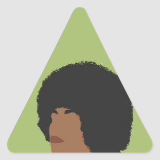 Angela Davis Feminist Triangle Sticker