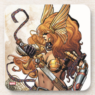 Angela Drawing Sword Beverage Coaster